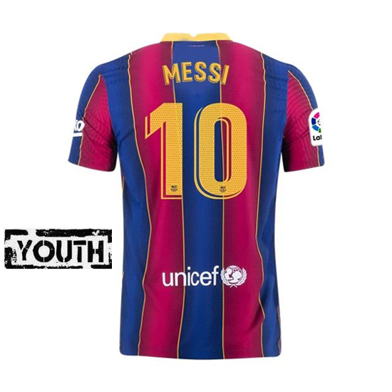Lionel Messi Youth Home Soccer Jersey 21/20 Barcelona #10