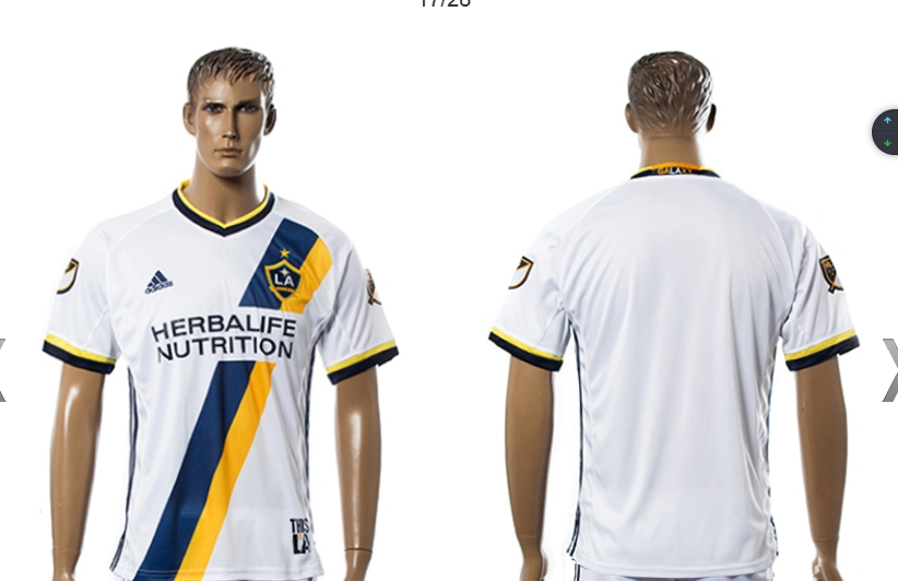 La Galaxy 17-18 season Home White Soccer Jersey