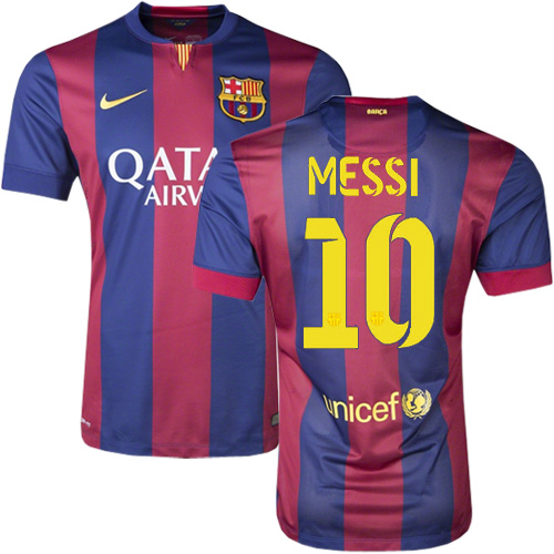 Lionel Messi Home Soccer Jersey 14/15 Barcelona #10