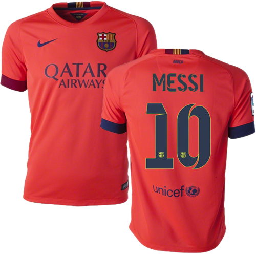 Lionel Messi Away Soccer Jersey 14/15 Barcelona #10