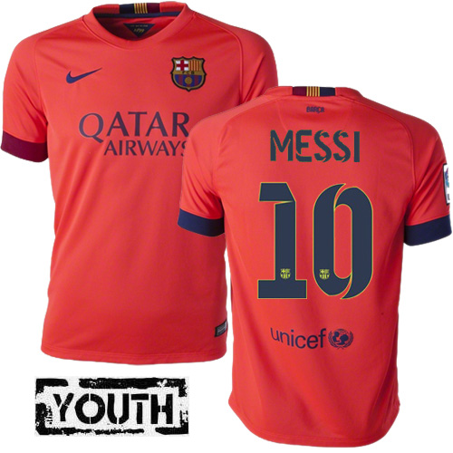 Lionel Messi Youth Away Soccer Jersey 14/15 Barcelona #10