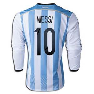 Lionel Messi Home LS Soccer Jersey 2014 Argentina #10