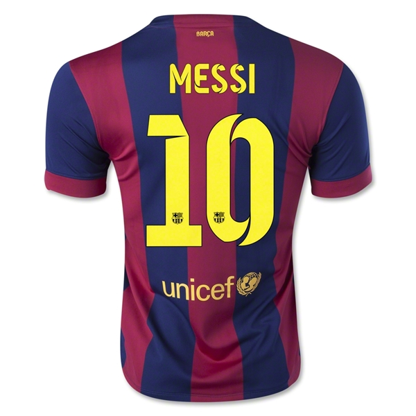 LIONEL MESSI AUTHENTIC HOME SOCCER JERSEY 14/15 BARCELONA