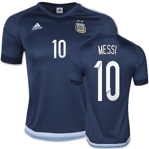 Lionel Messi Away Soccer Jersey 2015 Argentina #10