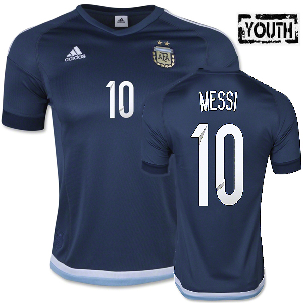 Lionel Messi Youth Away Soccer Jersey 2015 Argentina #10