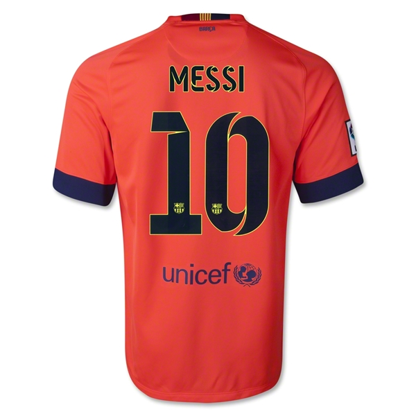 LIONEL MESSI AUTHENTIC AWAY SOCCER JERSEY 14/15 BARCELONA