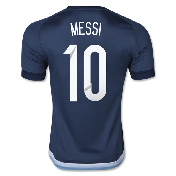 LIONEL MESSI AUTHENTIC AWAY SOCCER JERSEY 2015 ARGENTINA