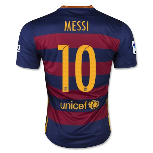Lionel Messi Authentic Home Soccer Jersey 15/16 Barcelona #10