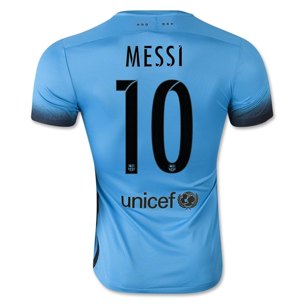 Lionel Messi Authentic Third Soccer Jersey 15/16 Barcelona #10