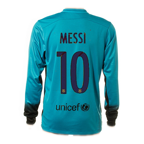 Lionel Messi Authentic Third LS Soccer Jersey 15/16 Barcelona #10