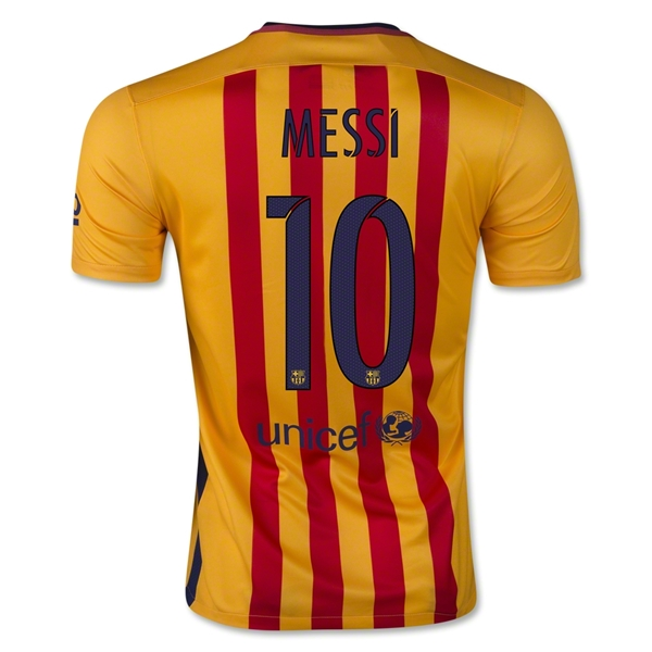 Lionel Messi Youth Away Soccer Jersey 15/16 Barcelona #10