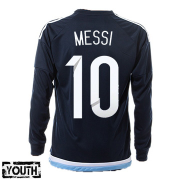 Lionel Messi Youth Away LS Soccer Jersey 2015 Argentina #10
