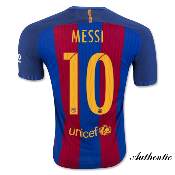 Lionel Messi Authentic Home Soccer Jersey 16/17 Barcelona #10