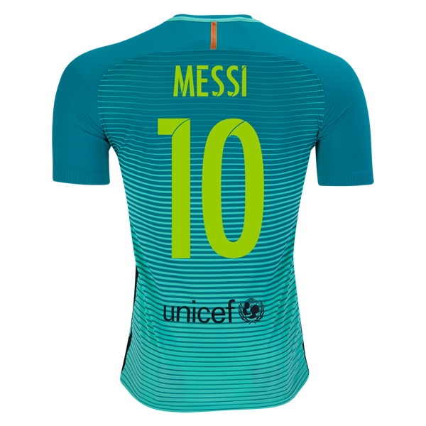 Lionel Messi Authentic Third Soccer Jersey 16/17 Barcelona #10