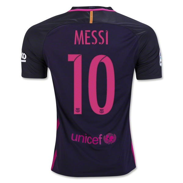 Lionel Messi Away Soccer Jersey 16/17 Barcelona #10