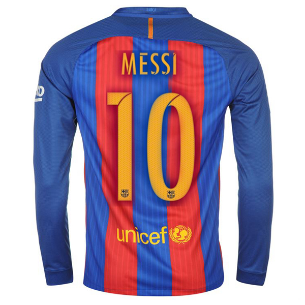 Lionel Messi Home LS Soccer Jersey 16/17 Barcelona #10