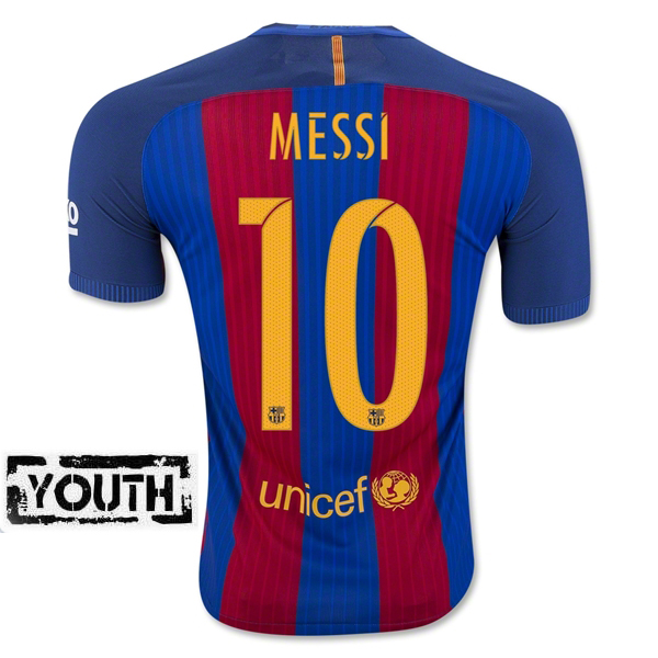 Lionel Messi Youth Home Soccer Jersey 16/17 Barcelona #10