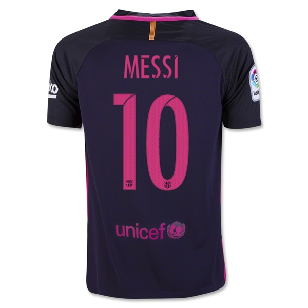 Lionel Messi Youth Away Soccer Jersey 16/17 Barcelona #10