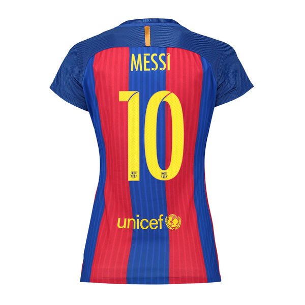 Lionel Messi Women's Home Soccer Jersey 16/17 Barcelona #10