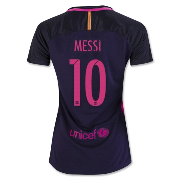 Lionel Messi Women's Away Soccer Jersey 16/17 Barcelona #10
