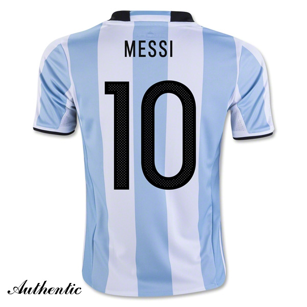 Lionel Messi Authentic Home Soccer Jersey 2016 Argentina #10