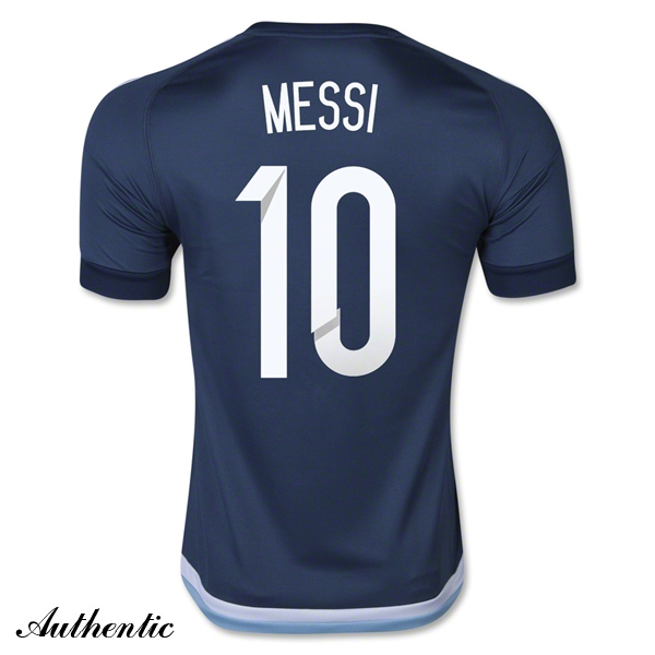 Lionel Messi Authentic Away Soccer Jersey 2016 Argentina #10