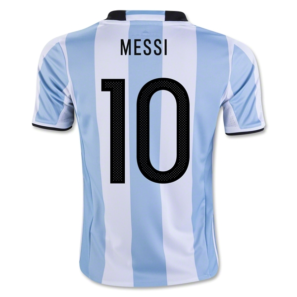 Lionel Messi Home Soccer Jersey 2016 Argentina #10