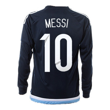 Lionel Messi Away LS Soccer Jersey 2017 Argentina #10