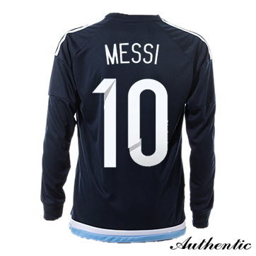 Lionel Messi Authentic Away LS Soccer Jersey 2016 Argentina #10