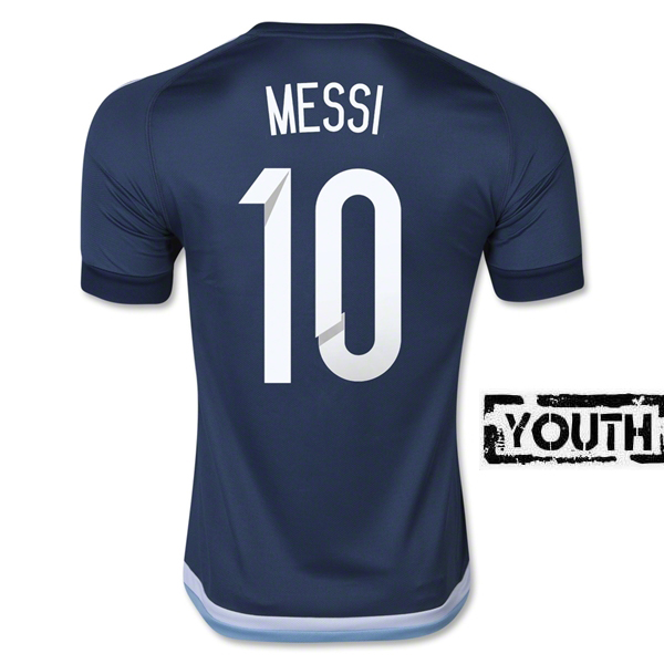 Lionel Messi Youth Away Soccer Jersey 2016 Argentina #10