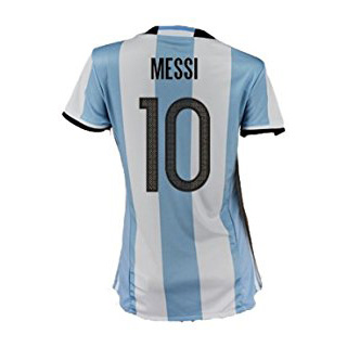 Lionel Messi Women's Home Soccer Jersey 2016 Argentina #10