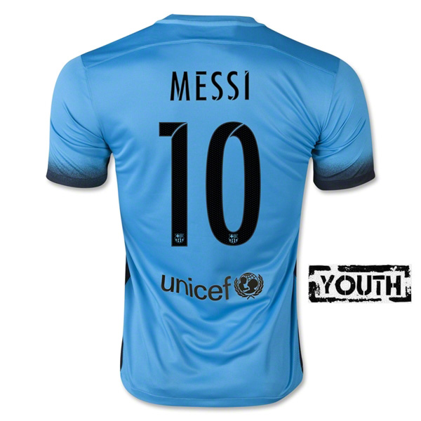 Lionel Messi Youth Third Away Soccer Jersey 15/16 Barcelona #10