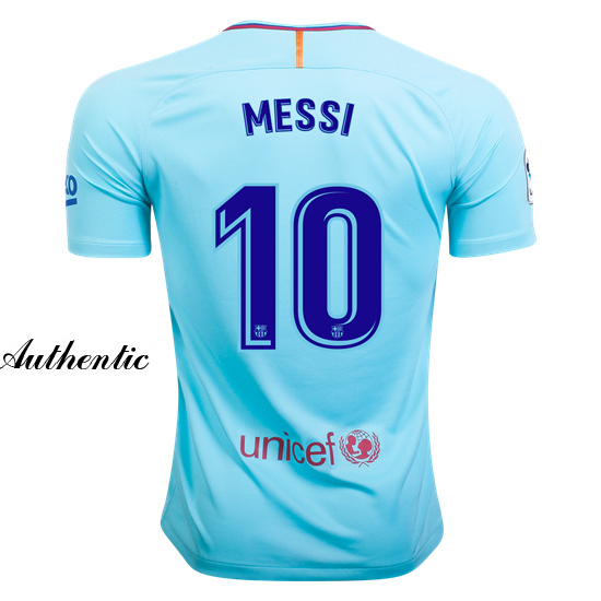 Lionel Messi Authentic Away Soccer Jersey 17/18 Barcelona #10