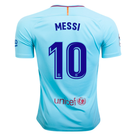 Lionel Messi Away Replica Soccer Jersey 17/18 Barcelona #10