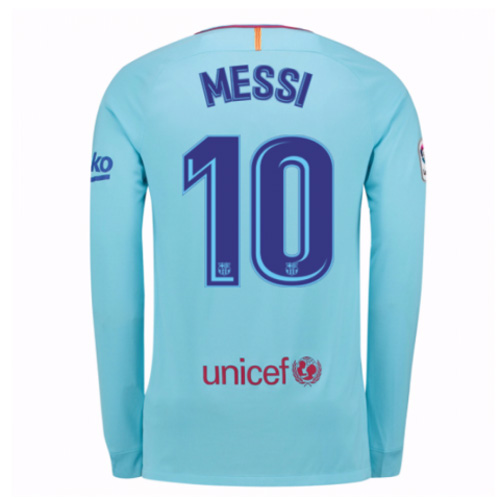 Lionel Messi Away LS Soccer Jersey 17/18 Barcelona #10