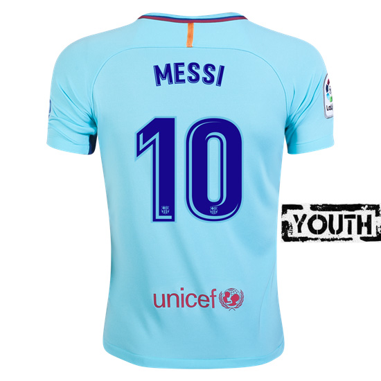 Lionel Messi Youth Away Soccer Jersey 17/18 Barcelona #10