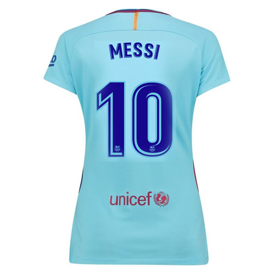 Lionel Messi Women's Away Soccer Jersey 17/18 Barcelona #10