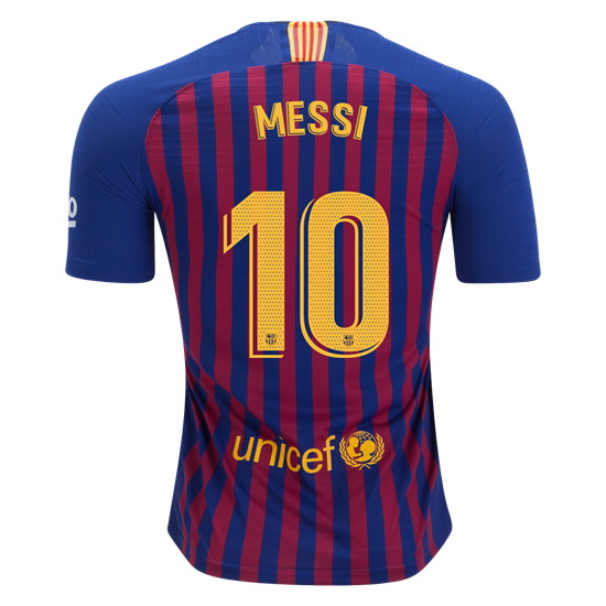 Lionel Messi Authentic Home Soccer Jersey 18/19 Barcelona #10