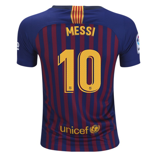 Lionel Messi Youth Home Soccer Jersey 18/19 Barcelona #10