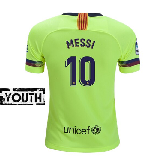 Lionel Messi Youth Away Soccer Jersey 18/19 Barcelona #10