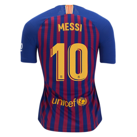 Lionel Messi Women's Home Soccer Jersey 18/19 Barcelona #10