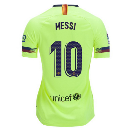 Lionel Messi Women's Away Soccer Jersey 18/19 Barcelona #10