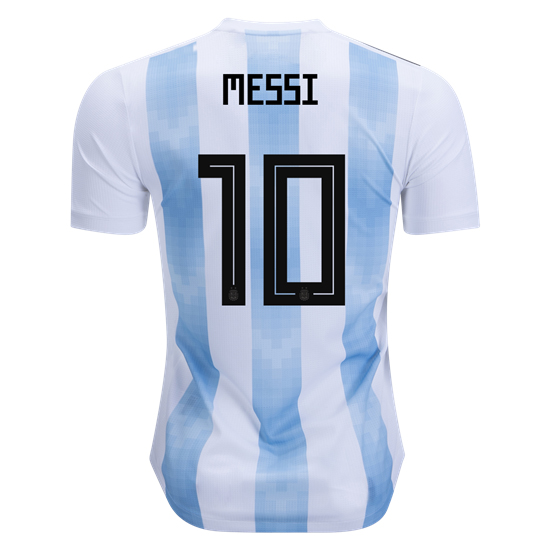 Lionel Messi Home Replica Soccer Jersey 2018 Argentina #10