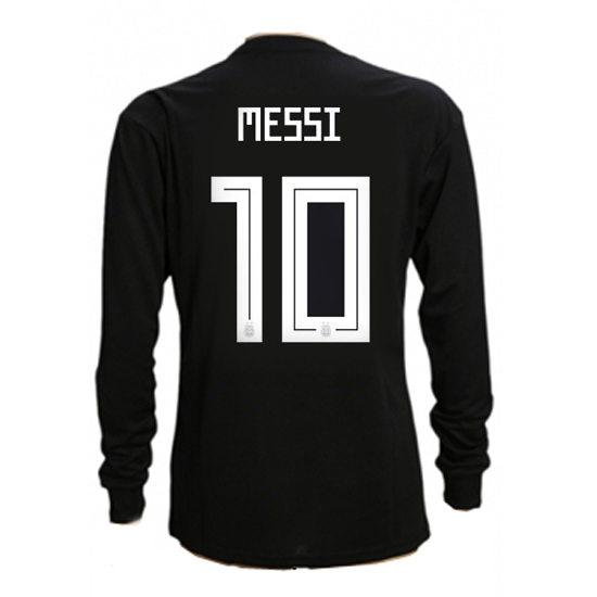 Lionel Messi Authentic Away LS Soccer Jersey 2018 Argentina #10