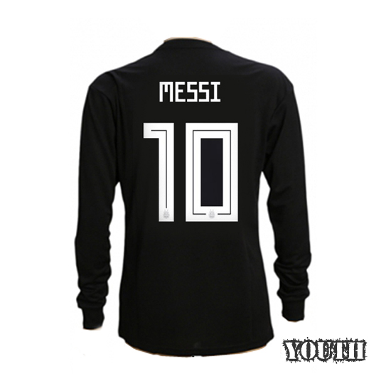 Lionel Messi Youth Away LS Soccer Jersey 2018 Argentina #10
