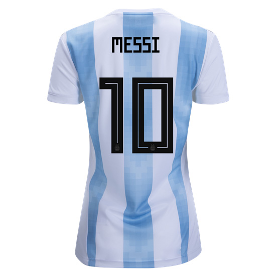 Lionel Messi Women's Home Soccer Jersey 2018 Argentina #10