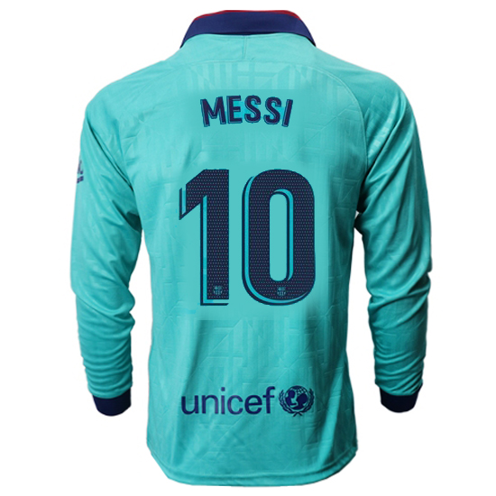 Lionel Messi Third LS Soccer Jersey 19/20 Barcelona #10