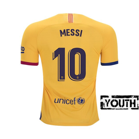 Lionel Messi Youth Away Soccer Jersey 19/20 Barcelona #10
