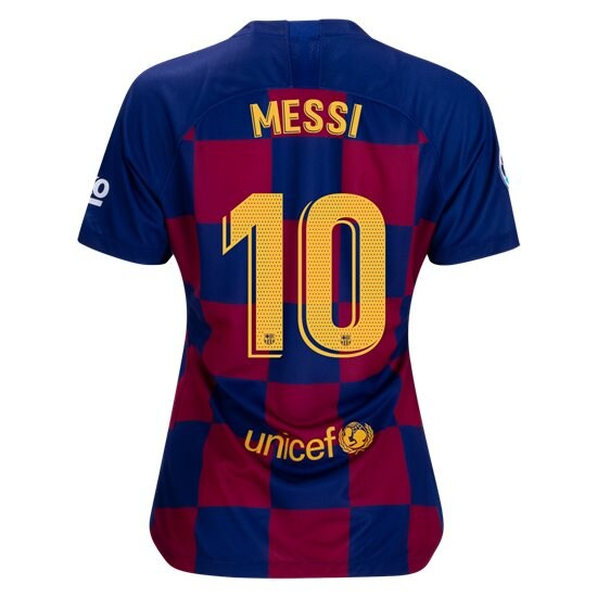 Lionel Messi Women's Home Soccer Jersey 19/20 Barcelona #10