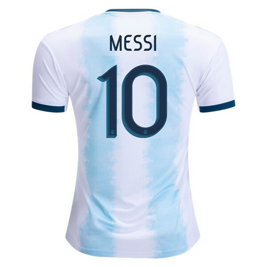 Lionel Messi Authentic Home Soccer Jersey 2019 Argentina #10